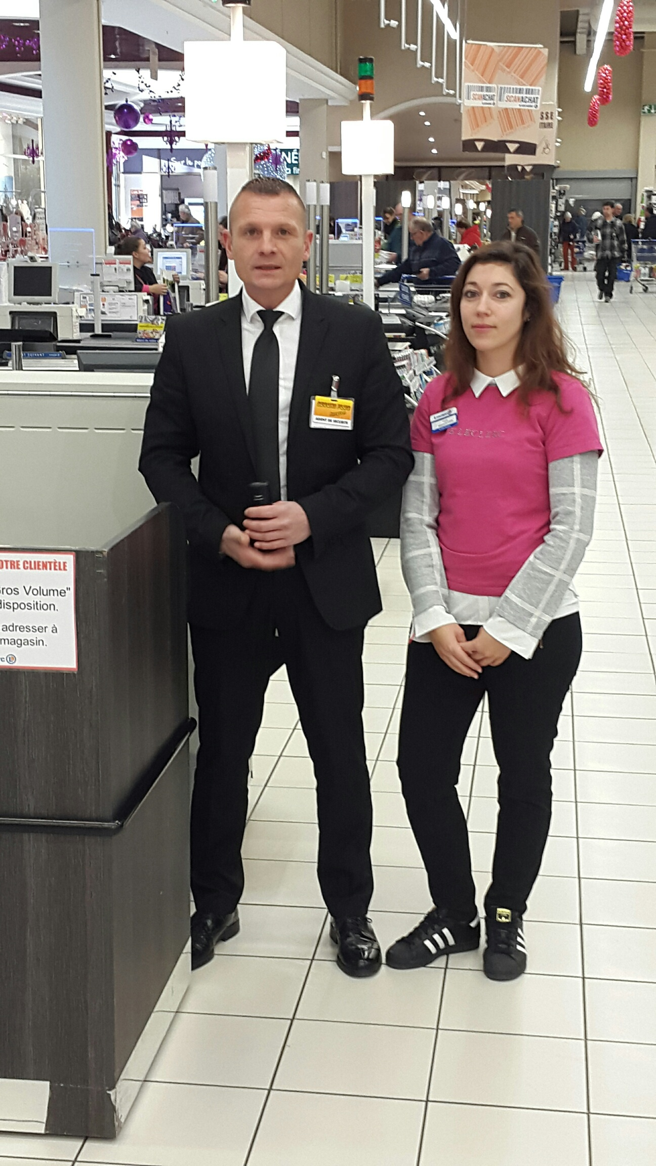 agent de sécurité magasin